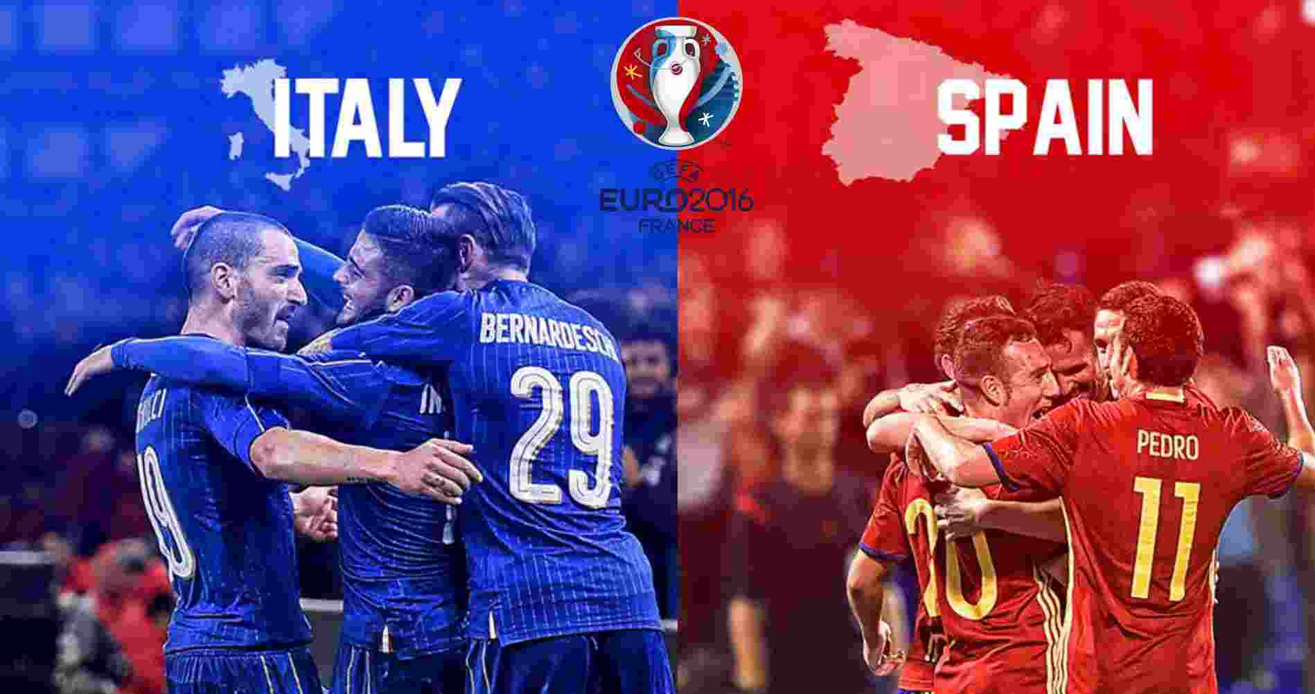 Euro 2016, Italia vs Spanyol, 27 Juni 2016 23:00WIB RCTI ...